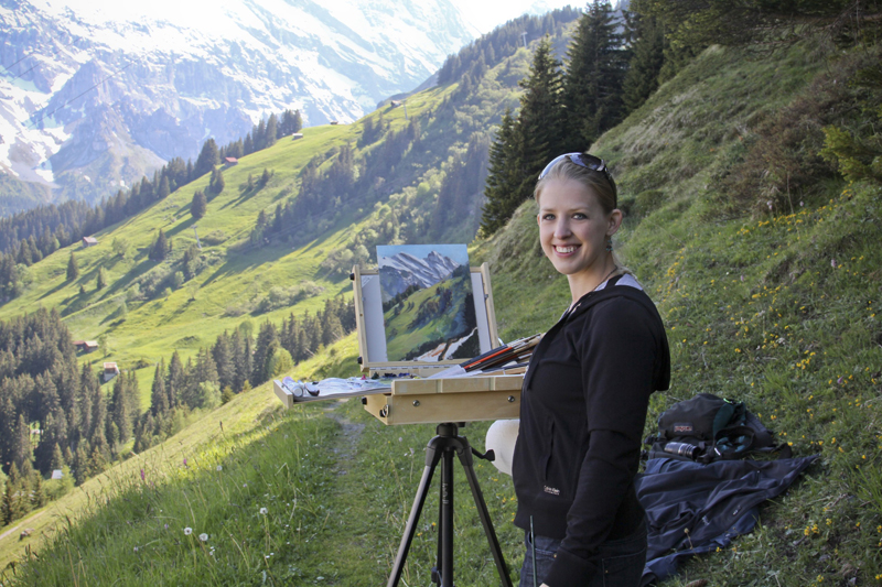Plein Air Swiss Alps