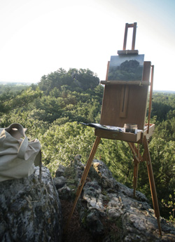 My French easel and plein air 8x10 on the bluff
