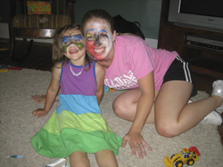 Face painting...the results