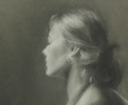 Laura - 5x7 - charcoal and chalk on toned paper - 2004