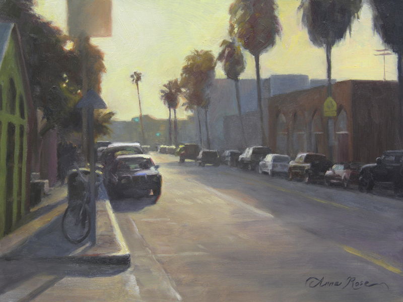 Abbot Kinney Sunset - Plein Air