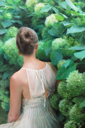Among the Hydrangeas